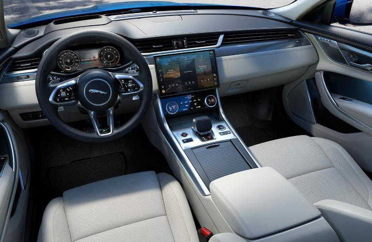 2021 Jaguar XF front seats and center console