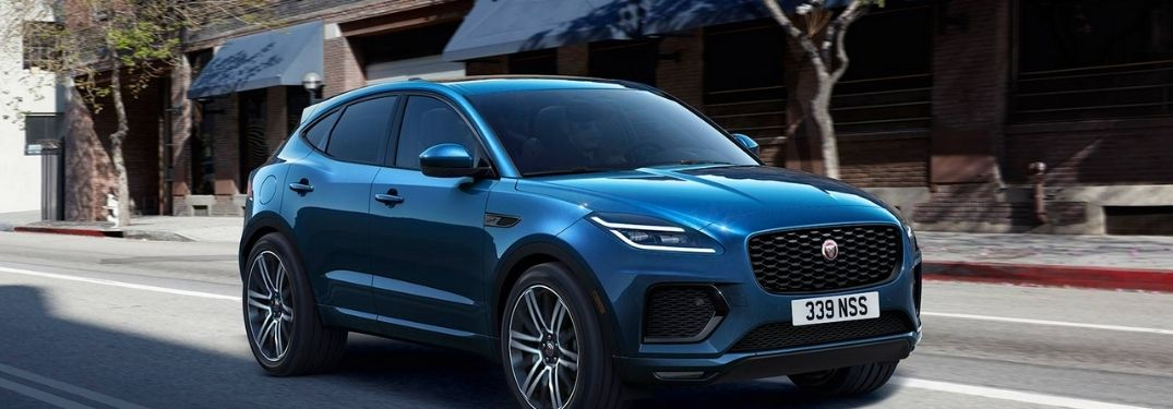 2021 Jaguar F-PACE running on the road
