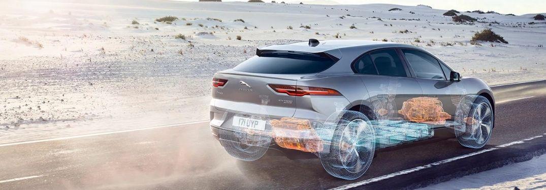 2021 Jaguar I-PACE on the road