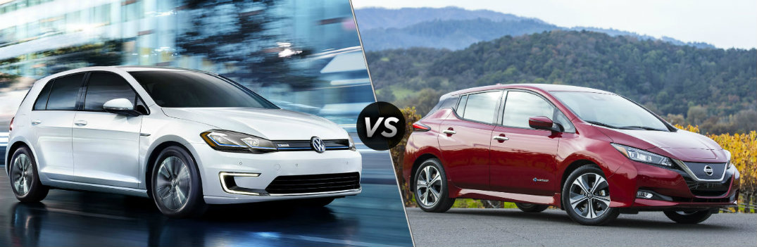 2018 Volkswagen e-Golf vs 2018 Nissan Leaf