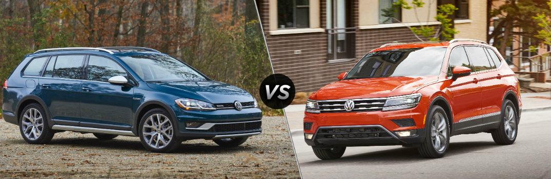 2018 Volkswagen Golf Alltrack vs 2018 Volkswagen Tiguan