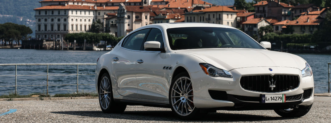 Beau ... White 2018 Maserati Quattroporte S At A Harbor With Water And Italian  City In The Background