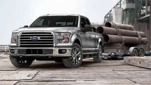 Front shot of silver Ford F-150