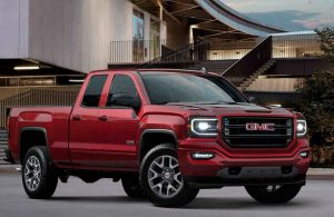 Front view of red 2017 GMC Sierra