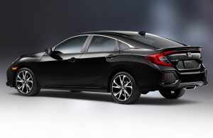 Profile view of black Honda Civic