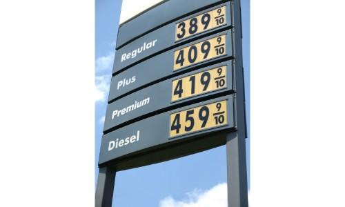 Sign of fuel prices
