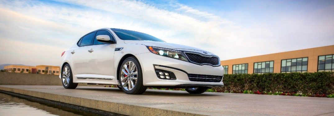 2015 Kia Optima from low angle