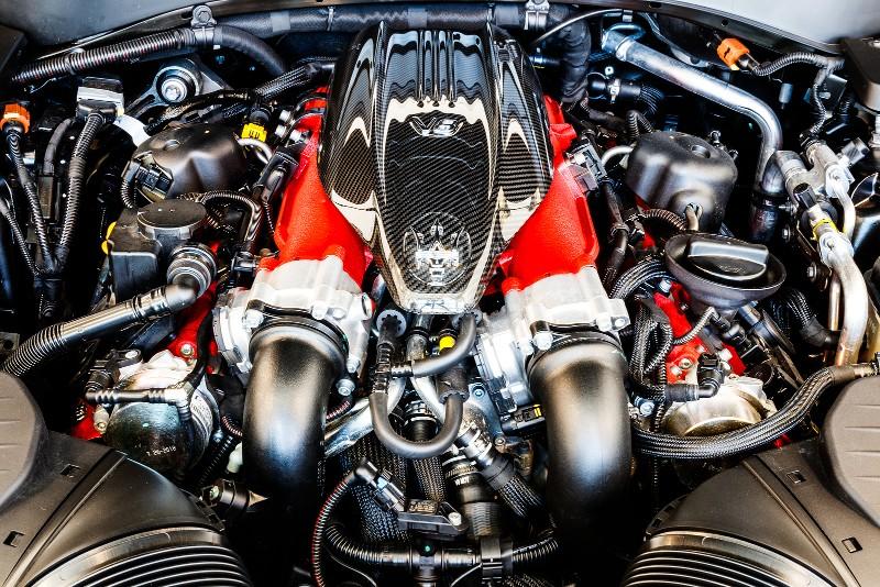 Twin-Turbo V8 engine in Maserati Levante