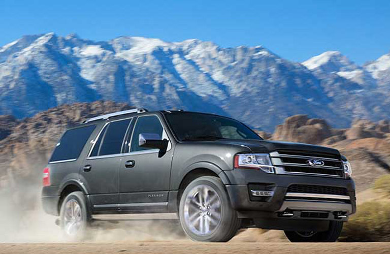 2017 Ford Expedition in front of mountains
