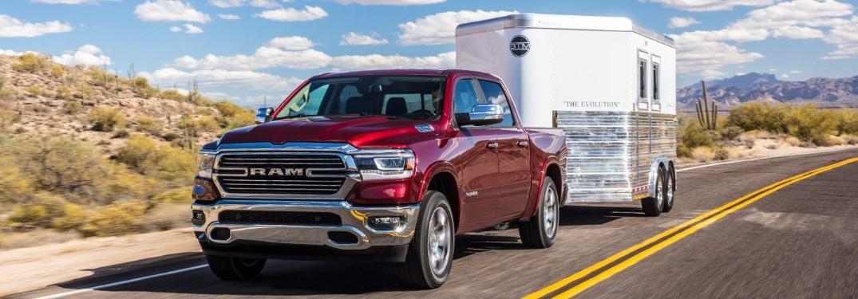 2019 RAM 1500 towing trailer