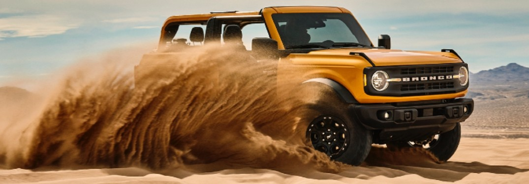 2021 Ford Bronco in sand