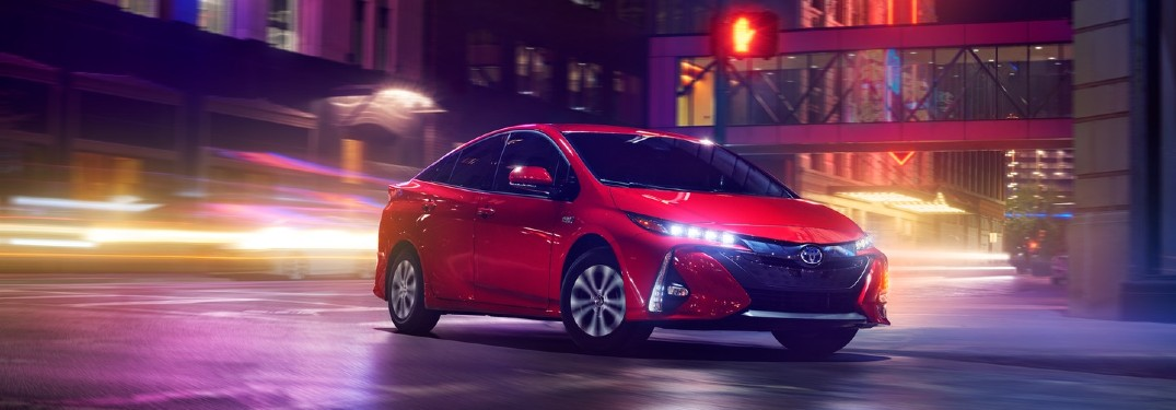 2020 Toyota Prius Prime driving in city