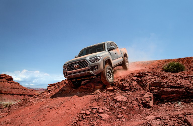 2018 Toyota Tacoma on hill