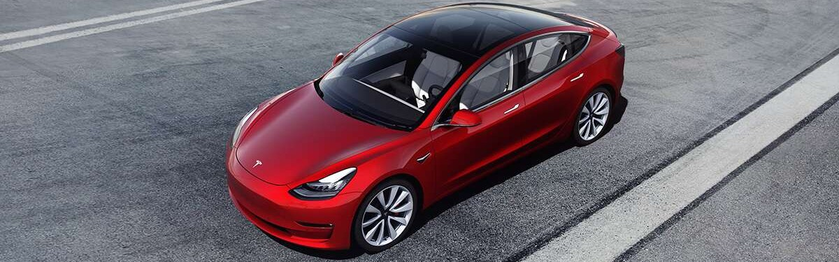 2020 Tesla Model 3 from above