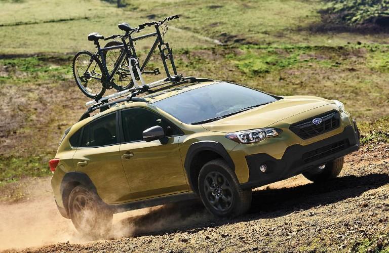 2021 Subaru Crosstrek with bike on roof