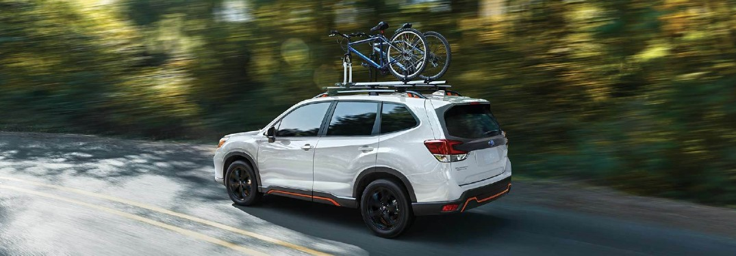 2021 Subaru Forester with bikes on roof rack