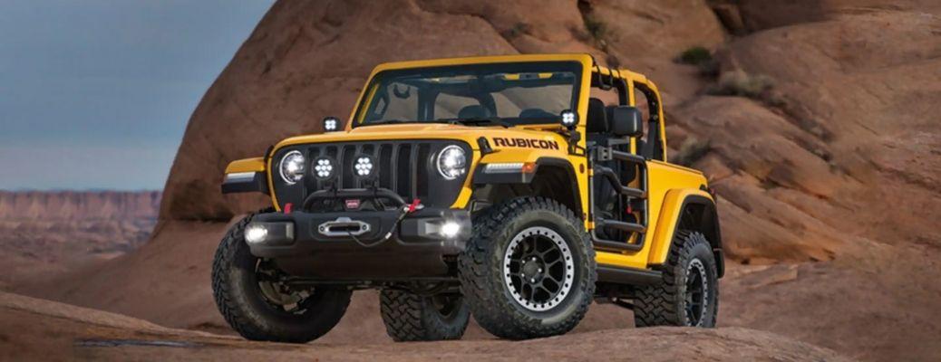2021 Jeep Wrangler on a Rocky Terrain