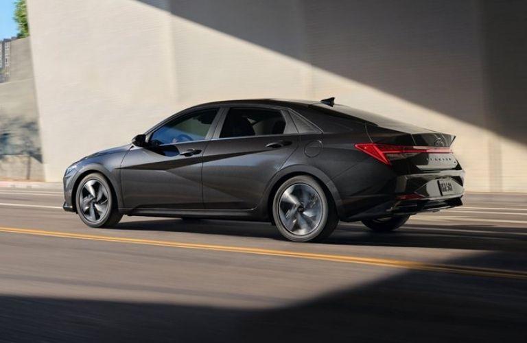 Hyundai Elantra on the road