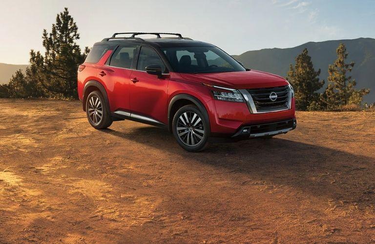 Nissan Pathfinder parked off-road