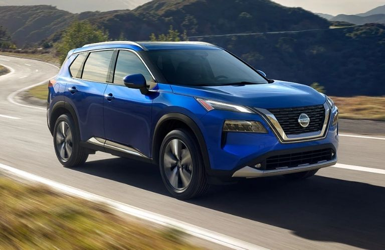 Nissan Rogue on the road
