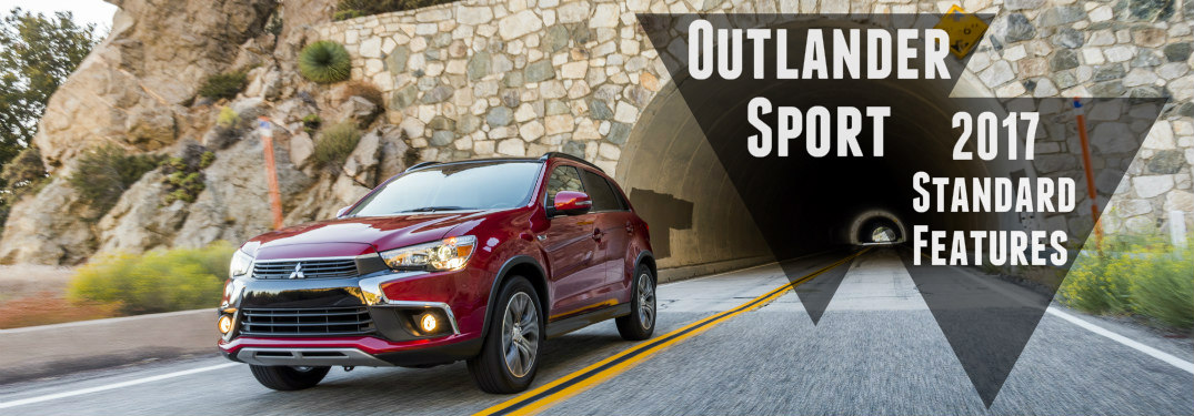 2017 Mitsubishi Outlander Sport red coming out of a tunnel
