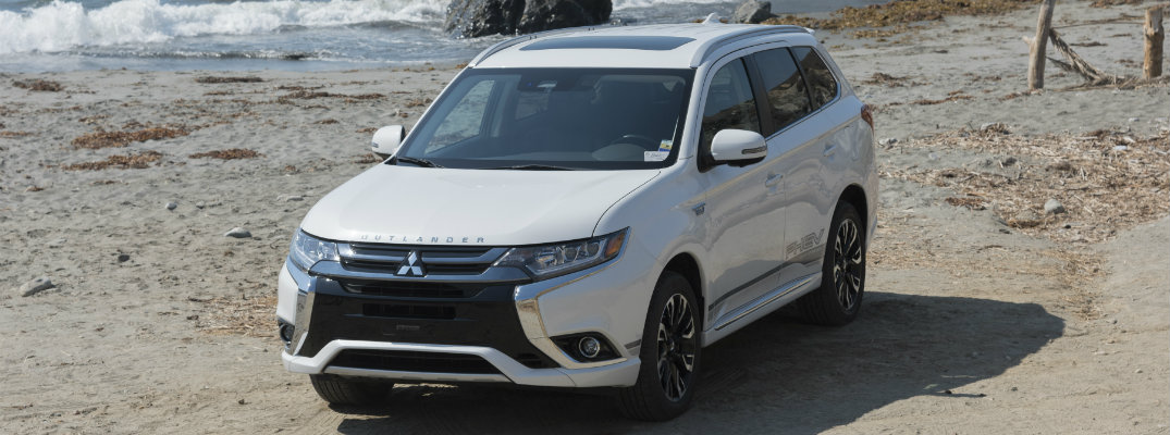 2018 Mitsubishi Outlander PHEV on the beach