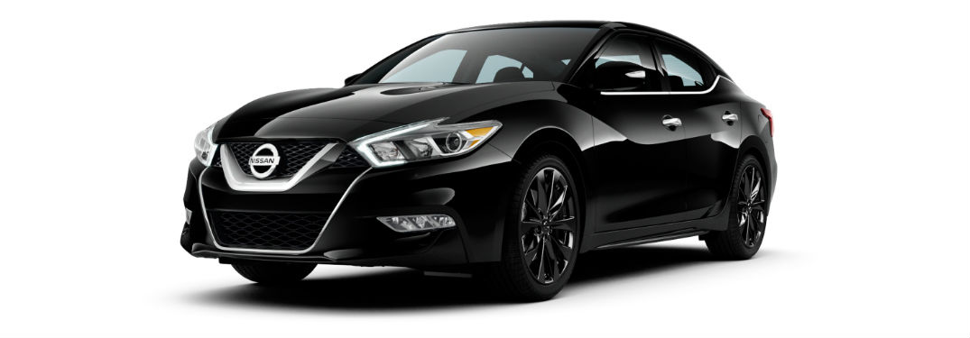 Black 2017 Nissan Maxima Exterior On White Background