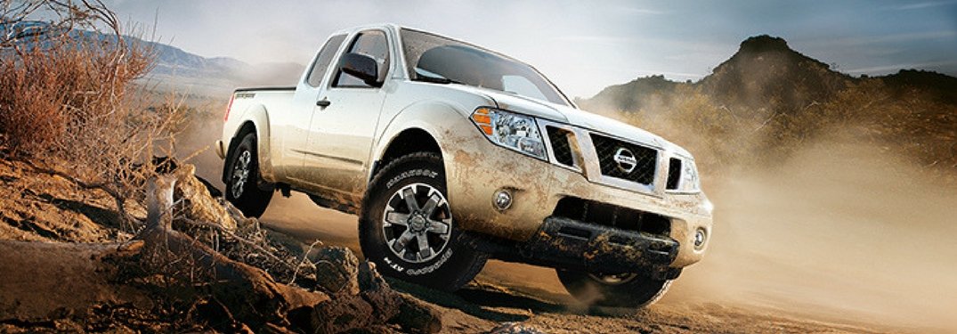 2018 Nissan Frontier on a dusty desert