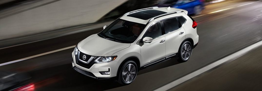 2018 Nissan Rogue driving on a highway