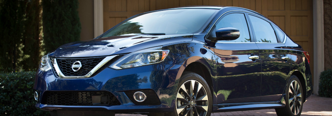blue 2018 nissan sentra parked in driveway