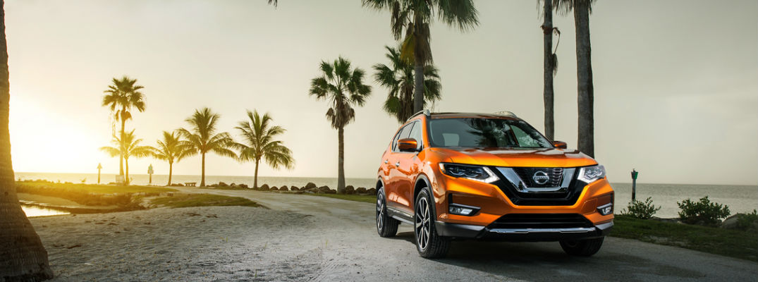 2017 Nissan Rogue in New Orange Paint