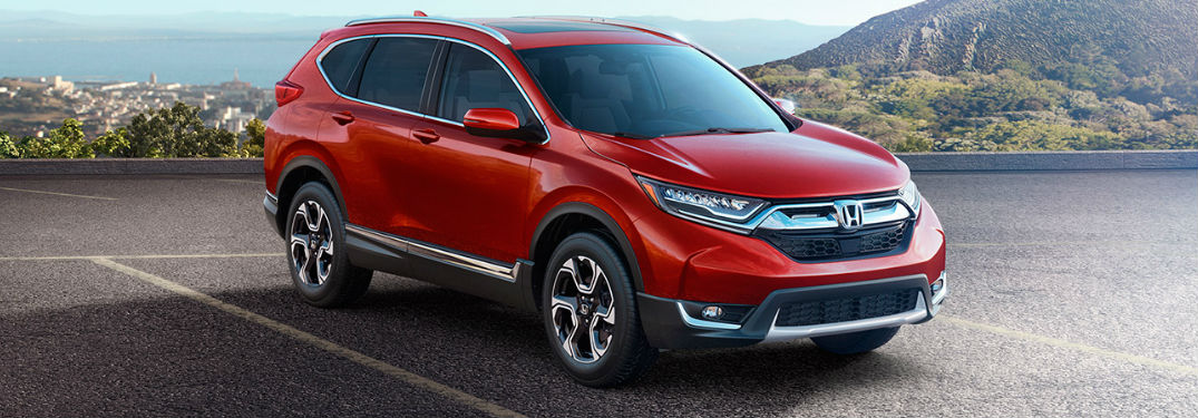 Honda CR-V exterior in red