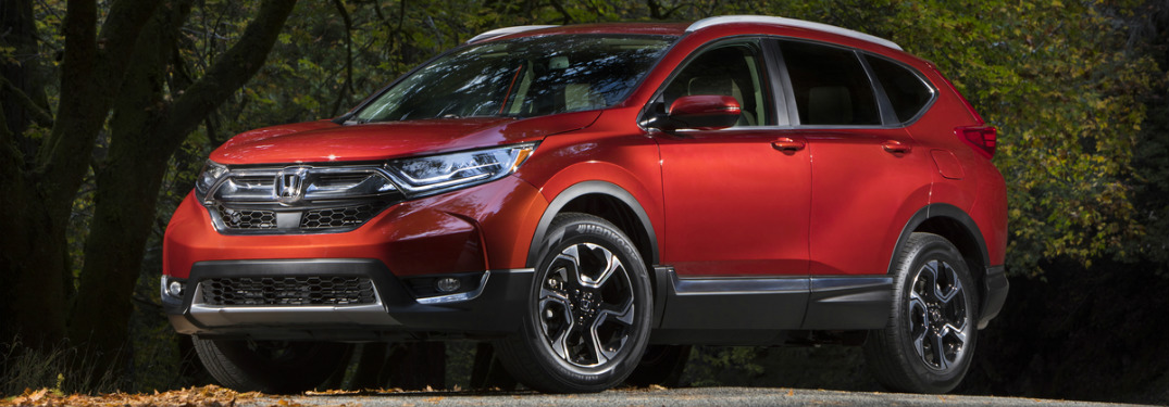 2017 Honda CR-V red side view