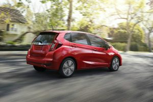 2018 Honda Fit red rear view