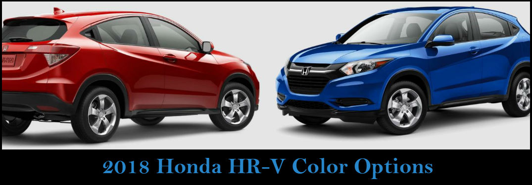 What are the color options for the 2018 Honda HR-V?