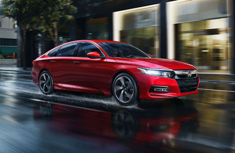 2018 Honda Accord Sedan driving in the rain