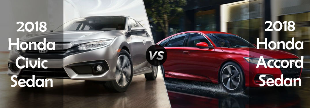 What are the differences between the Civic Sedan and the Accord Sedan?