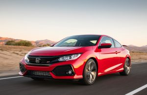 2018 Honda Civic Si Coupe with manual transmission