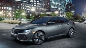 2018 Honda Civic Hatchback with manual transmission