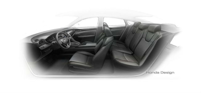 Honda Insight Prototype side interior view of seats