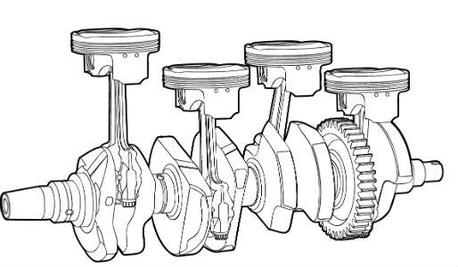 diagram of a crankshaft