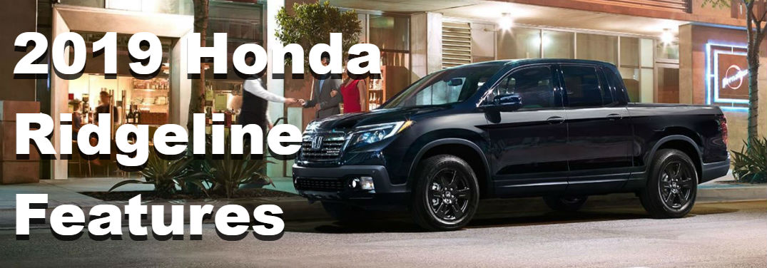2019 Honda Ridgeline audio and connectivity features
