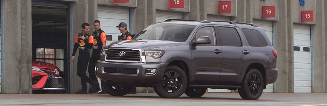 2018 Toyota Sequoia with a pit crew