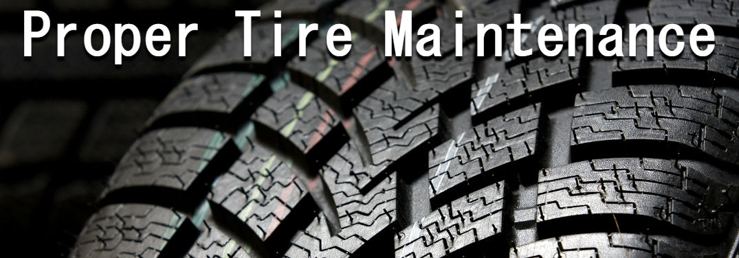 Proper Tire Care & Maintenance Tips with a close-up on a tire's tread