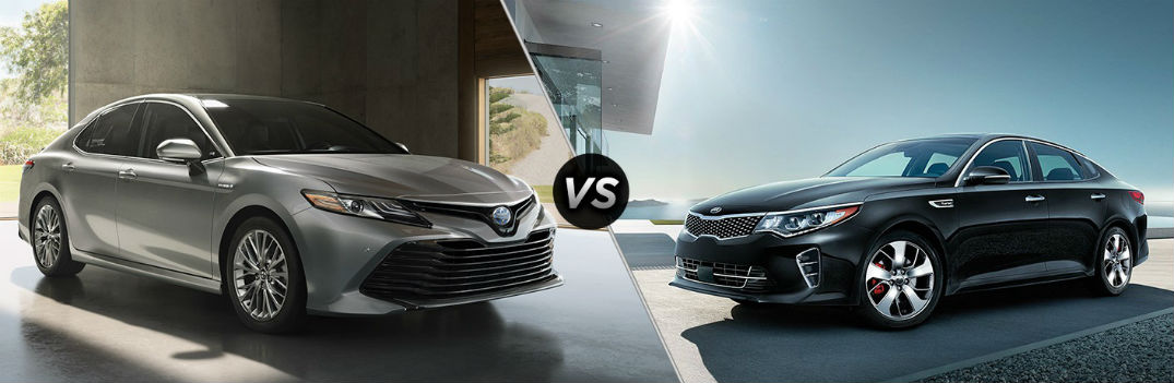 2018 Toyota Camry vs. 2018 Kia Optima midsize sedans