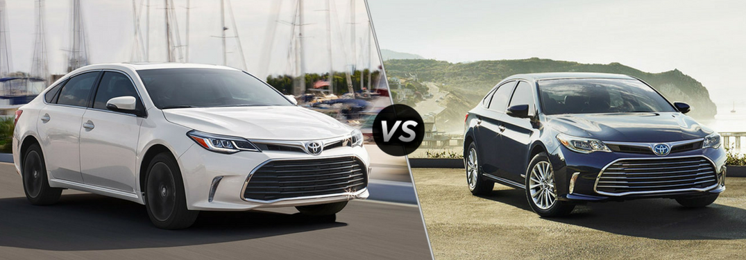 comparing the 2018 toyota avalon with the avalon hybrid. Black Bedroom Furniture Sets. Home Design Ideas