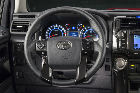 Steering Wheel And Dashboard Of 2018 Toyota 4runner