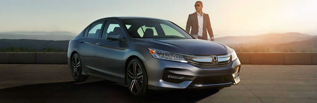 person standing beside the 2018 Honda Accord