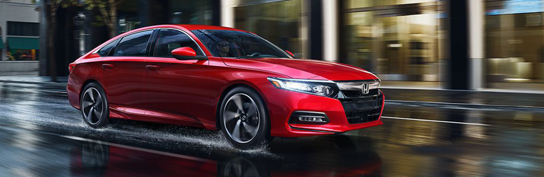 red 2018 Accord on the road