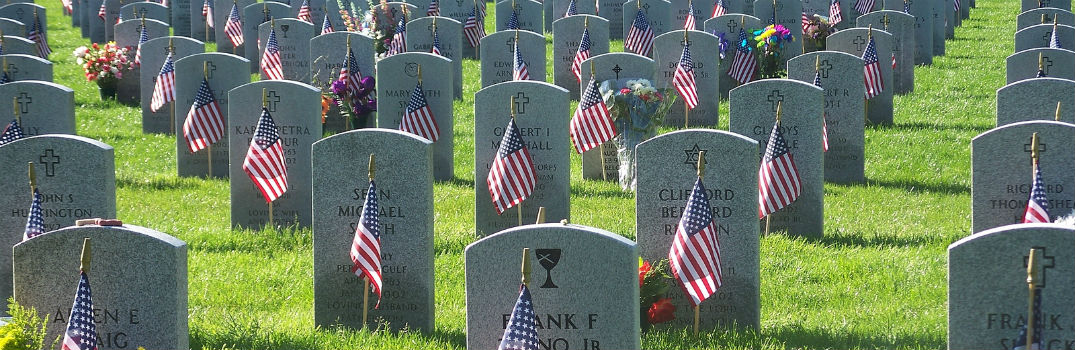 graves at a military cemetary